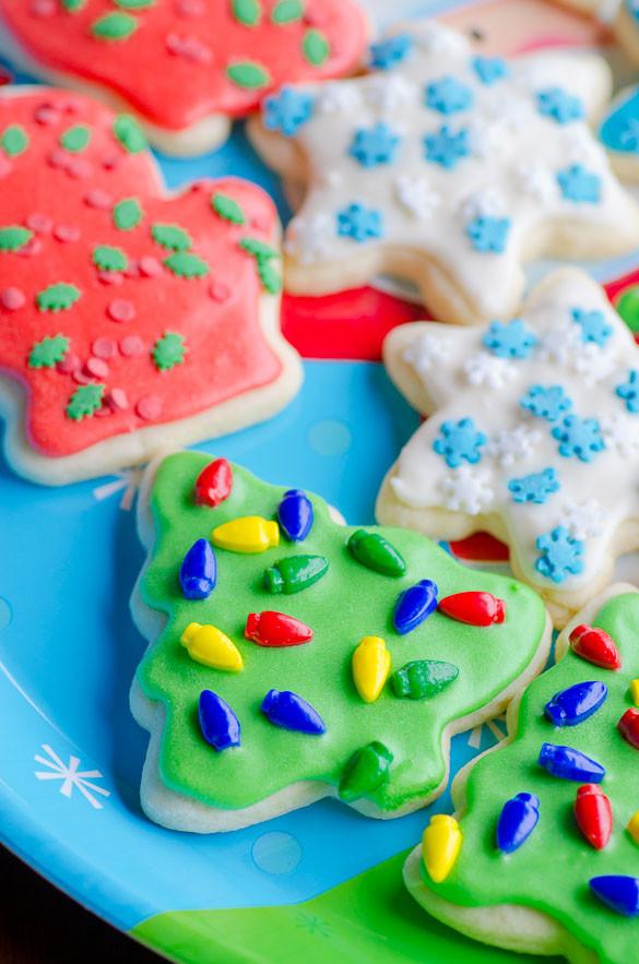 Christmas Cut Out Sugar Cookies  Soft Christmas Cut Out Sugar Cookies with Easy Icing