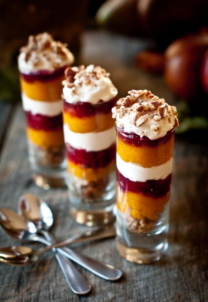 Christmas Dessert Ideas For Parties  Ginger Pumpkin Cranberry Parfait Shot – Healthy Christmas