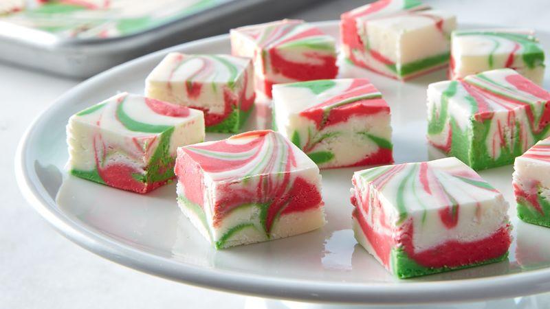 Christmas Dessert Ideas  3 Ingre nt Christmas Swirl Fudge Recipe BettyCrocker