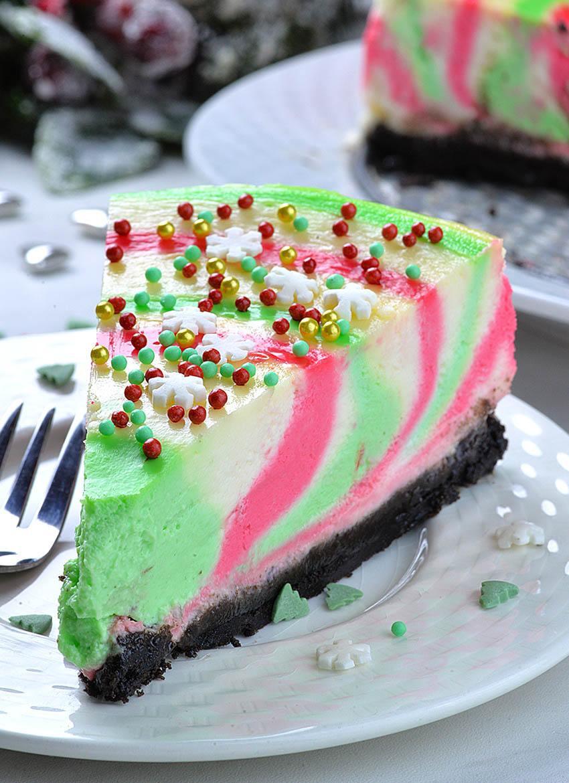 Christmas Dessert Recipes  Christmas Cheesecake