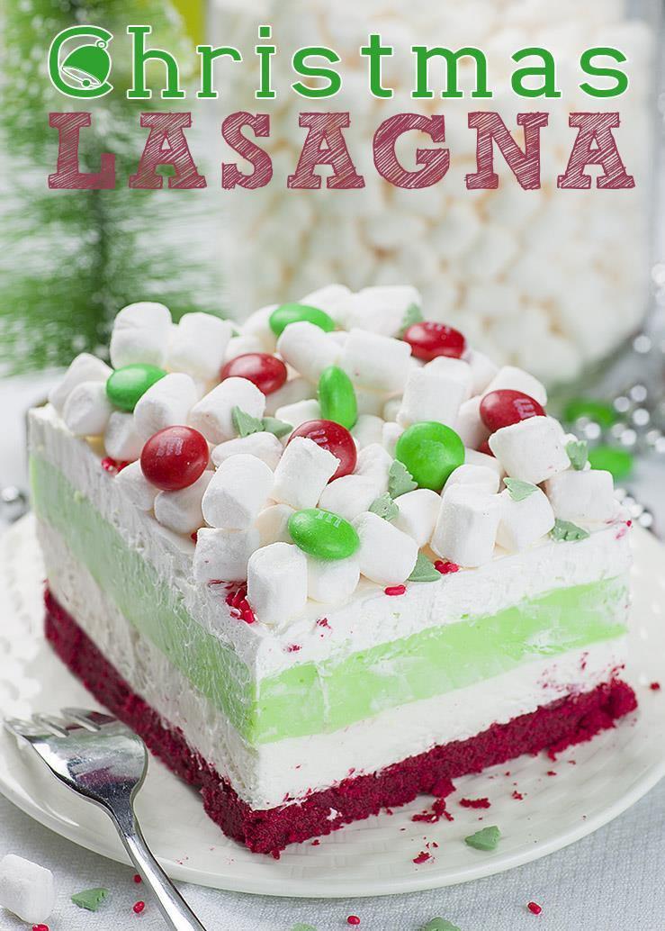 Christmas Dessert Recipes  Christmas Lasagna OMG Chocolate Desserts