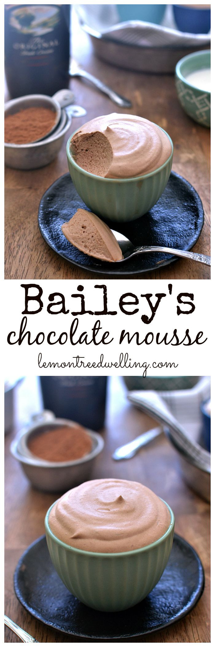 Christmas Desserts 2019  Bailey's Chocolate Mousse Lemon Tree Dwelling