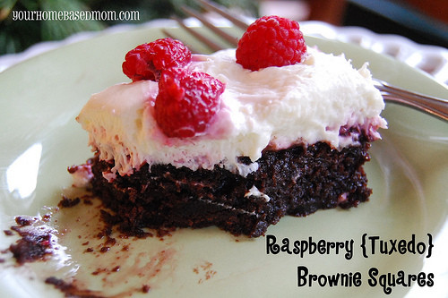 Christmas Desserts For A Crowd  Raspberry Chocolate Brownies your homebased mom