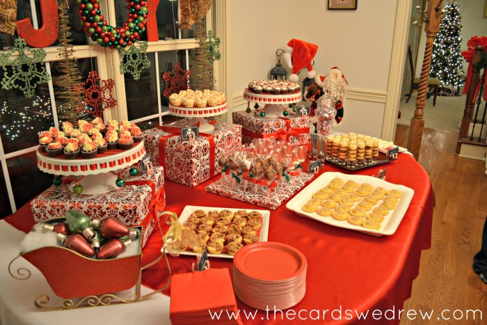 Christmas Desserts Party  Red and Green Christmas Party The Cards We Drew