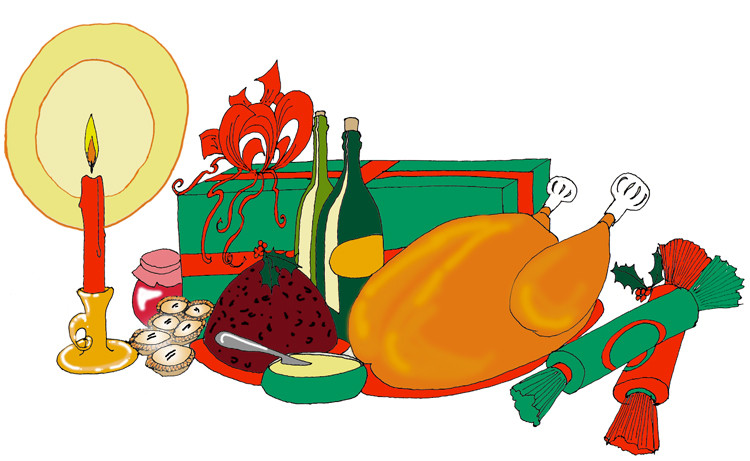 Christmas Dinner Clipart  Christmas clipart food Clipart Collection