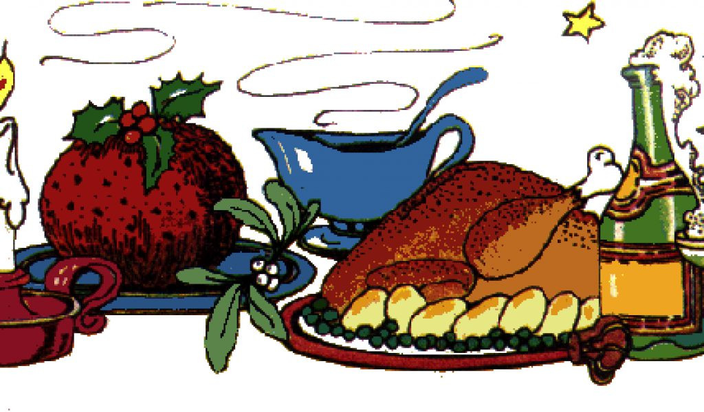 Christmas Dinner Clipart  Diner clipart christmas dinner Pencil and in color diner