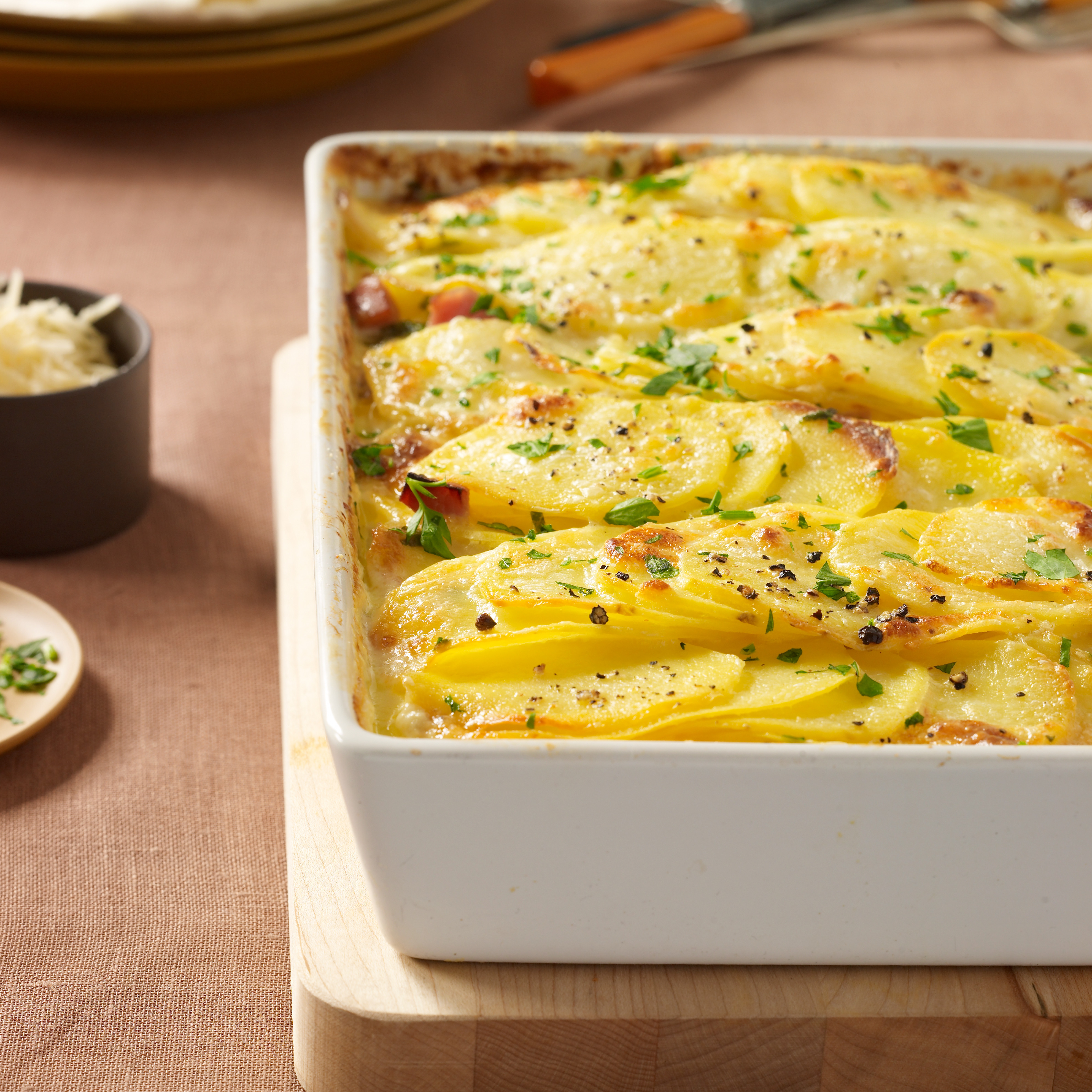 Christmas Dinner Dishes  Scalloped Potatoes with Ham Recipe Justin Chapple
