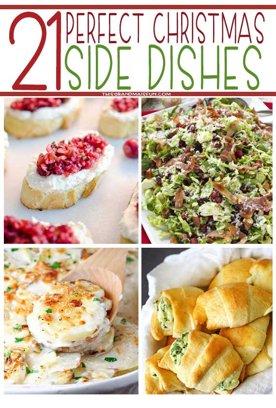 Christmas Dinner Ham Side Dishes  21 Perfect Christmas Side Dishes TGIF This Grandma is Fun