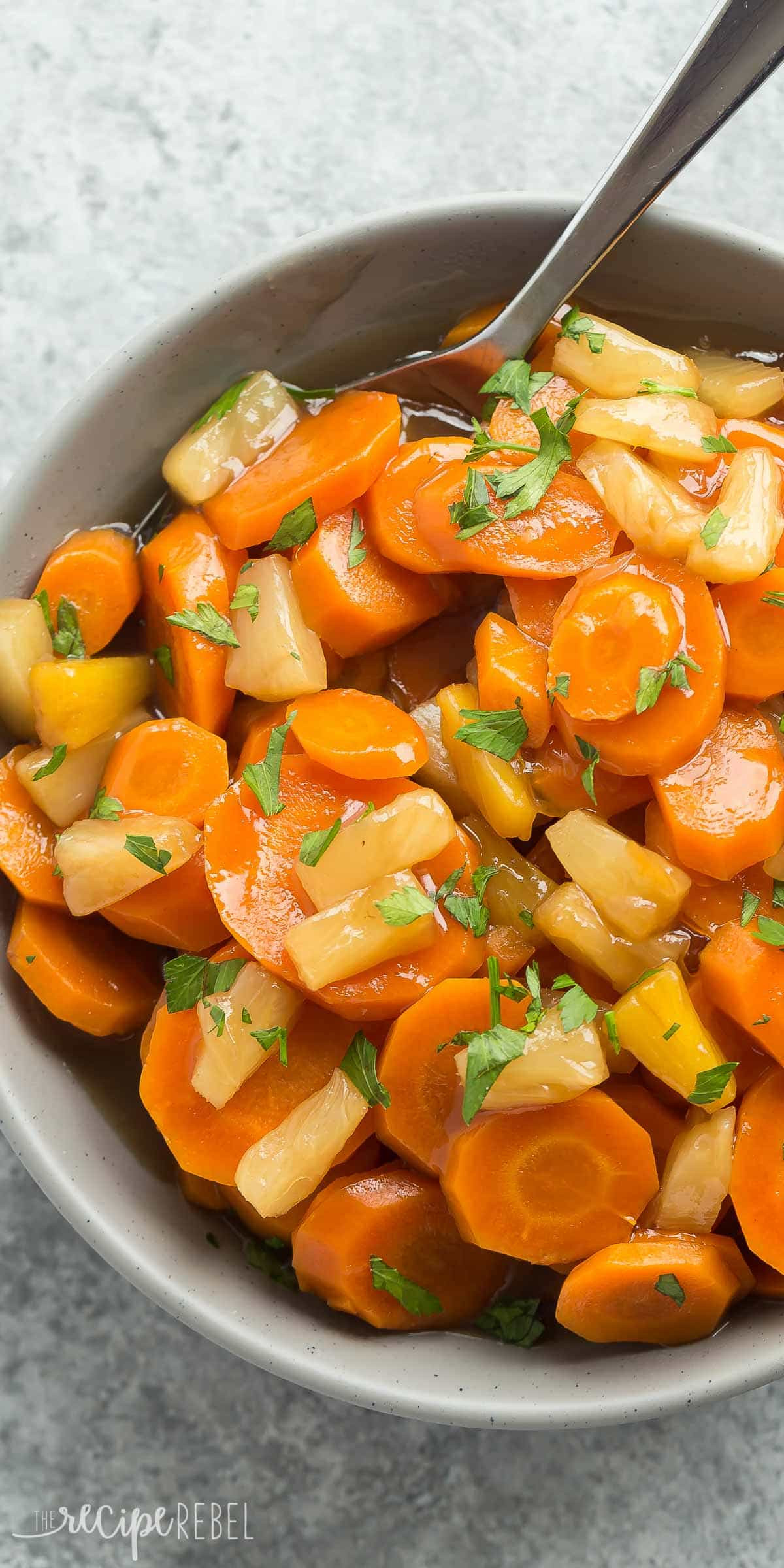 Christmas Dinner Ham Side Dishes  Slow Cooker Pineapple Glazed Carrots Recipe