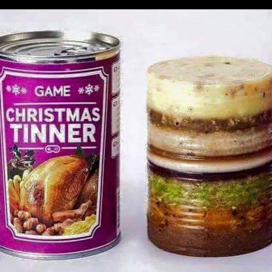 Christmas Dinner In A Can  An entire Christmas dinner in a can Nooooooooooooo