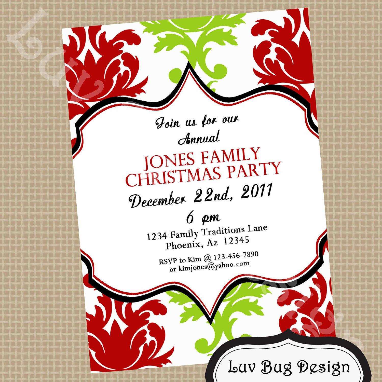 Christmas Dinner Invitation  CHRISTMAS Elegant Dinner Printable Party Invite by