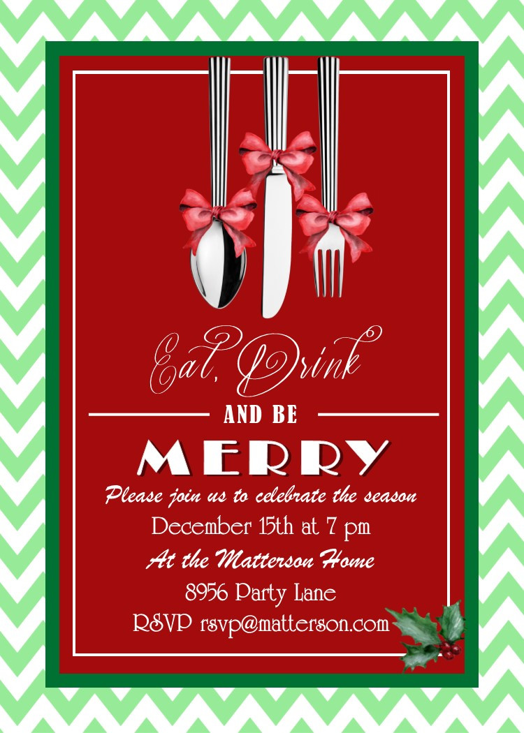 Christmas Dinner Invitation  Christmas Dinner Party Invitations New Designs for 2017