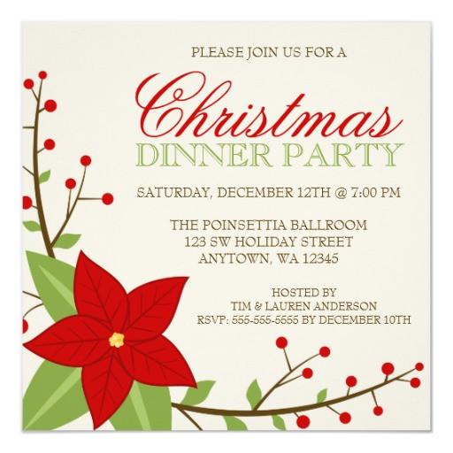 Christmas Dinner Invitation  Christmas Dinner Invitations 1600 Christmas Dinner