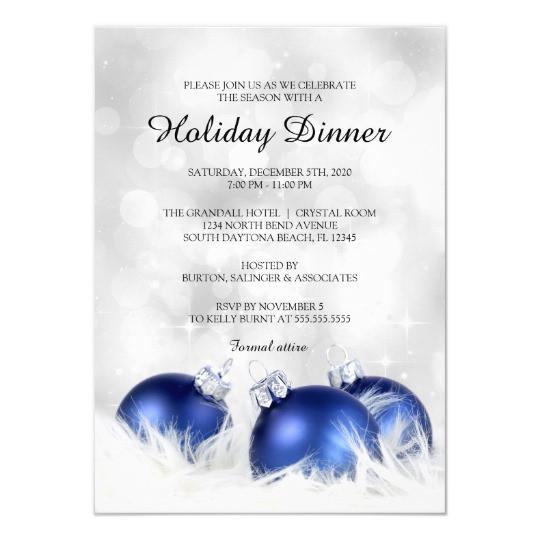 Christmas Dinner Invitation  Holiday Dinner Invitation Christmas Dinner Party