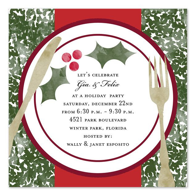 Christmas Dinner Invitation  Christmas Dinner Invitation Template Free