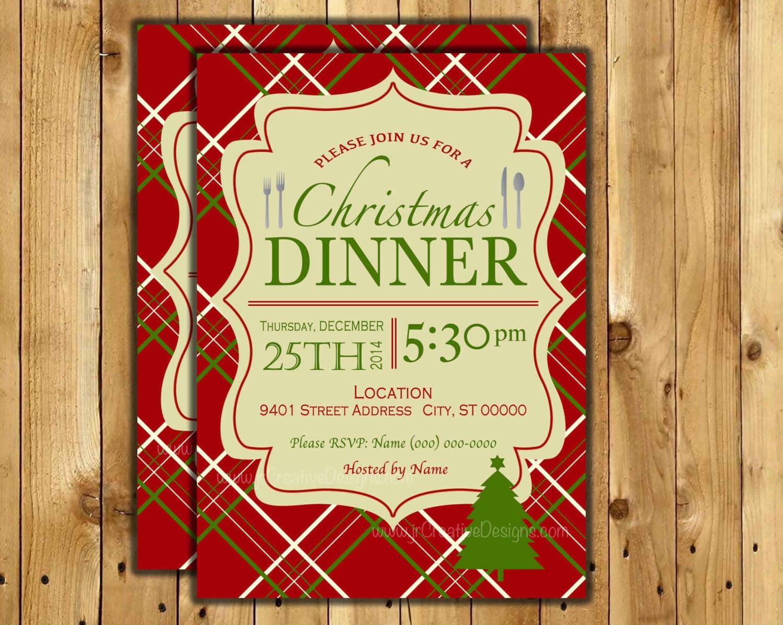 Christmas Dinner Invitation  Christmas dinner invite Christmas Dinner invitation Christmas