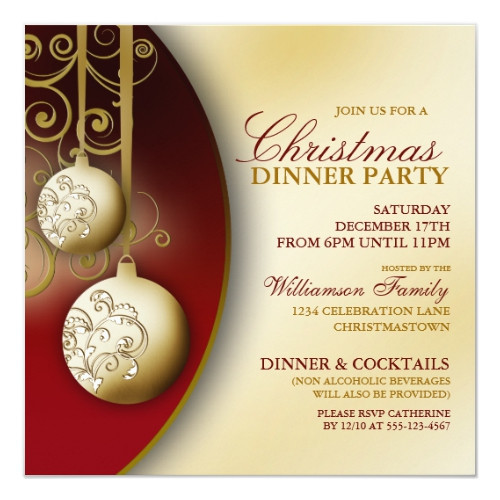 Christmas Dinner Invitation  Top 50 Christmas Dinner Party Invitations