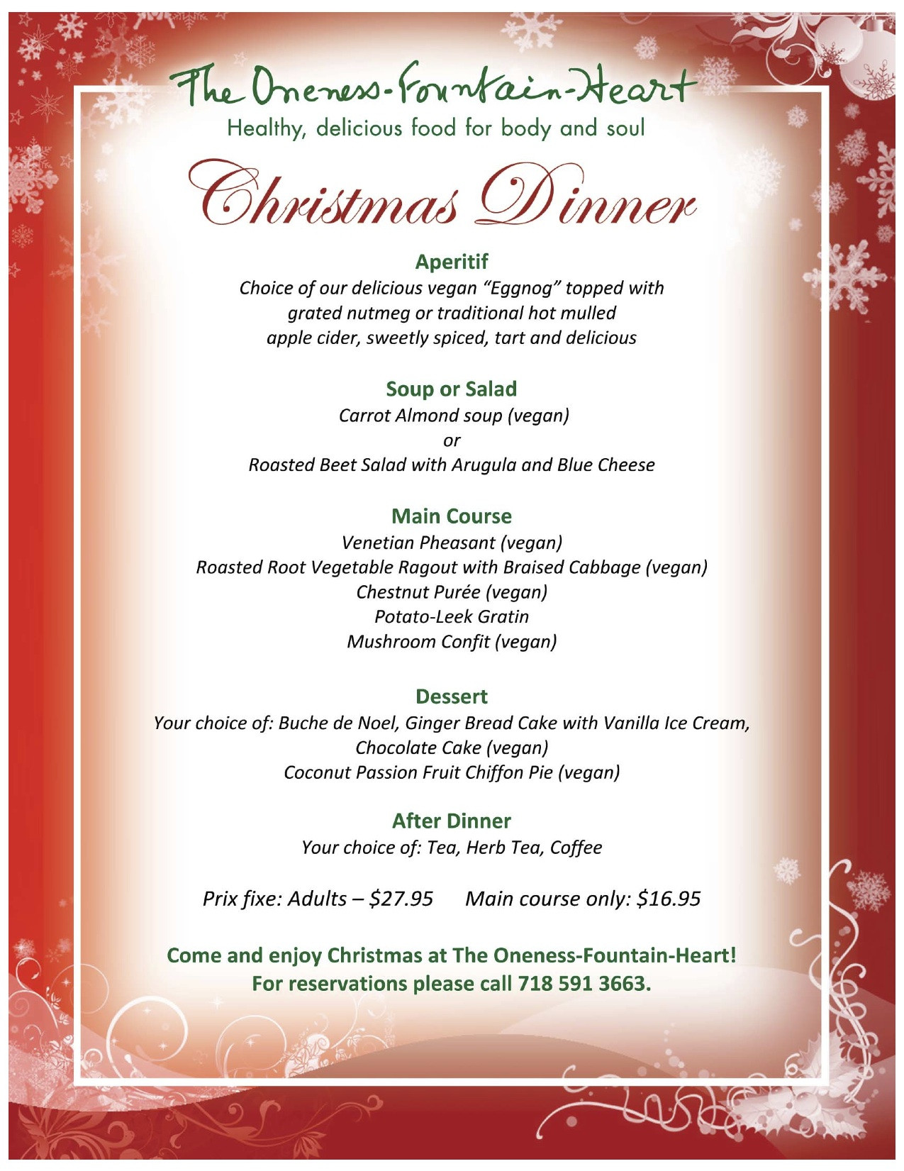 Christmas Dinner Menus  20 Mouth Watering Christmas Dinner Menu