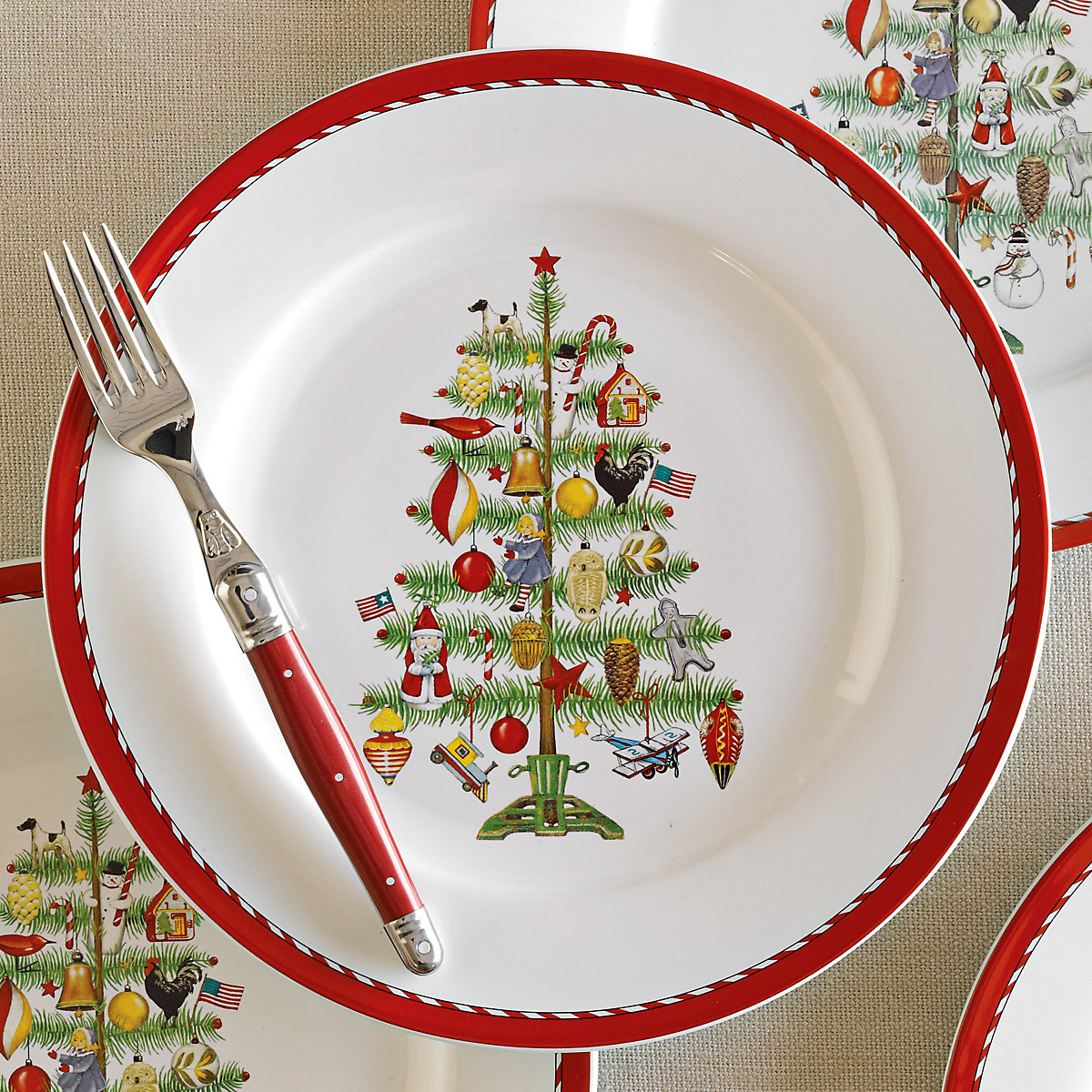 Christmas Dinner Plates  Holiday Dinner Plates Set 4