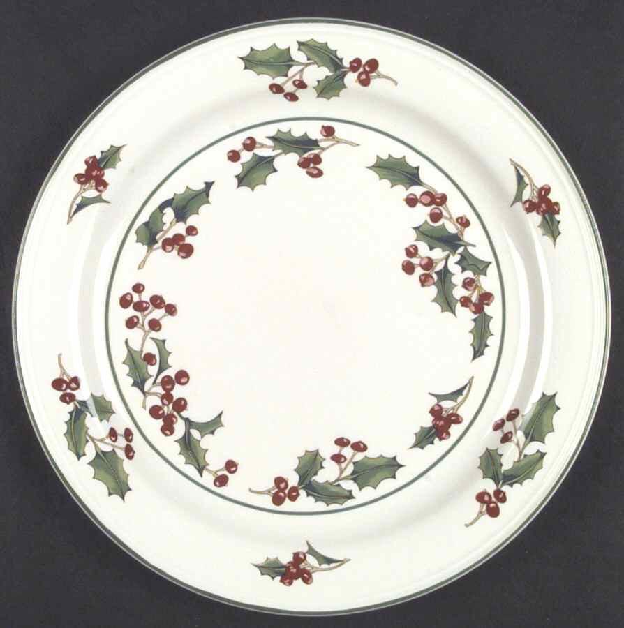 Christmas Dinner Plates  Sango WHITE CHRISTMAS Dinner Plate S G3