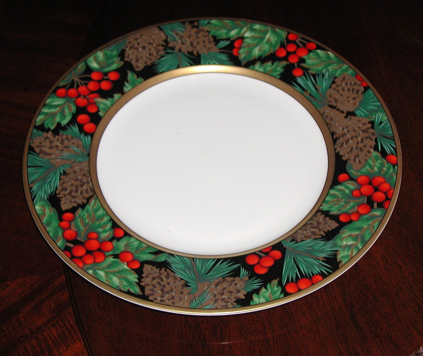 Christmas Dinner Plates  Fitz & Floyd Holiday Pine Dinner Plate