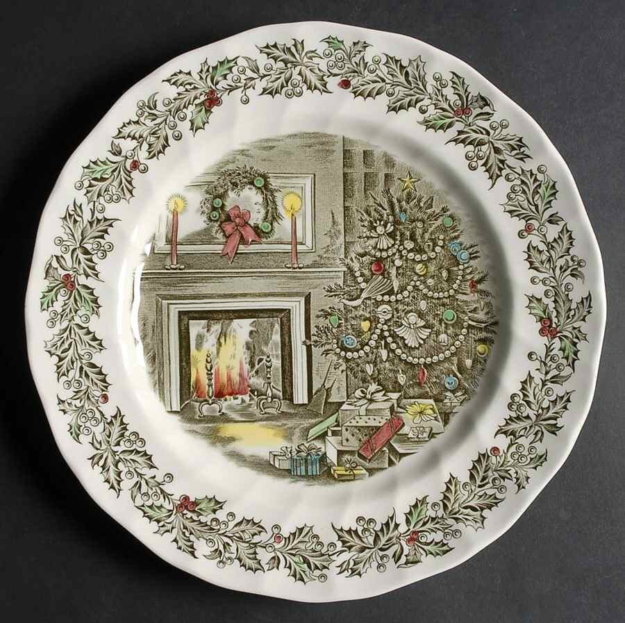 Christmas Dinner Plates  Johnson Brothers MERRY CHRISTMAS Dinner Plate
