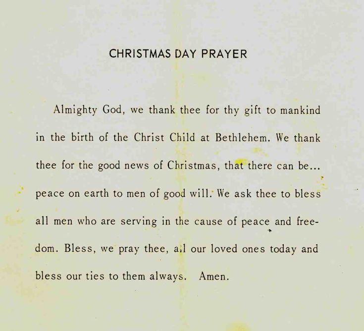 Christmas Dinner Prayer  The 25 best Christmas dinner prayer ideas on Pinterest