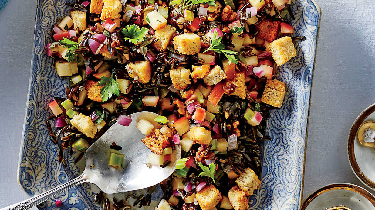 Christmas Dinner Side Dishes Food Network  Herbed Wild Rice Dressing Recipe Southern Living