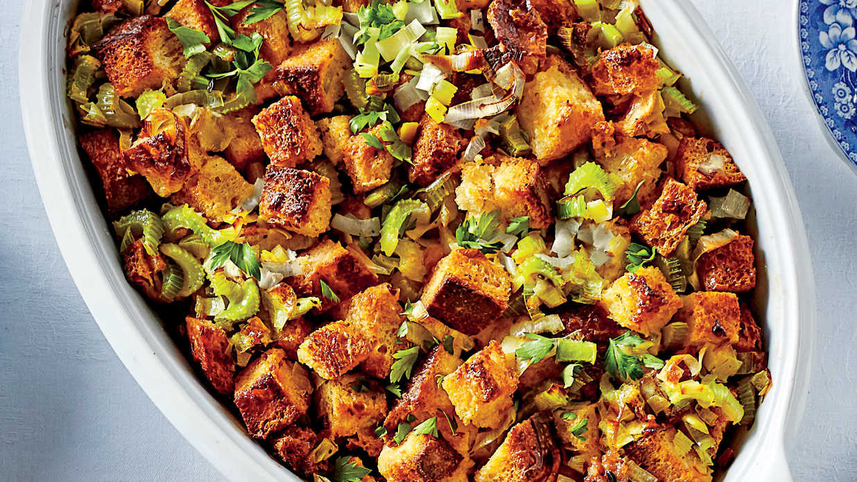 Christmas Dinner Side Dishes Food Network  Cornbread Dressing with Sausage and Fennel Recipe