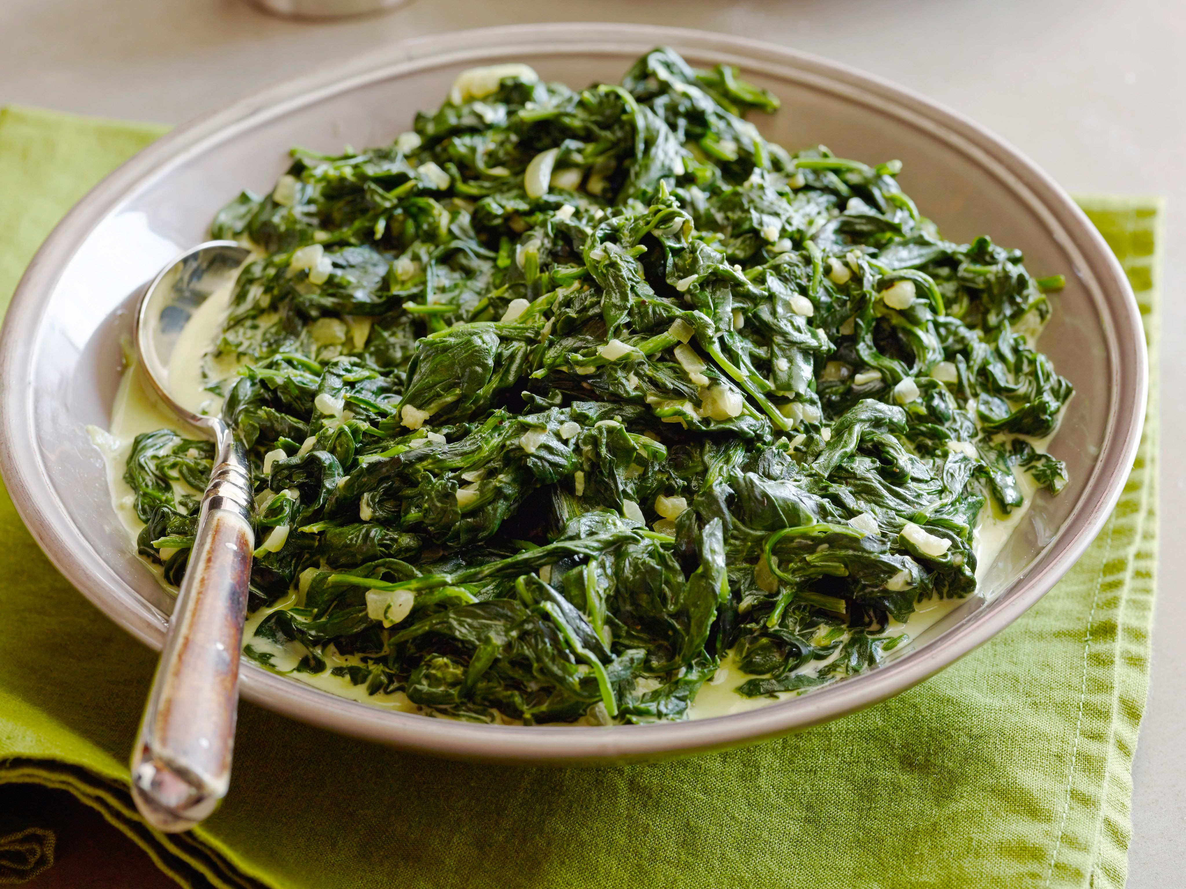 Christmas Dinner Side Dishes Food Network  Creamed Spinach Recipe Ve ables