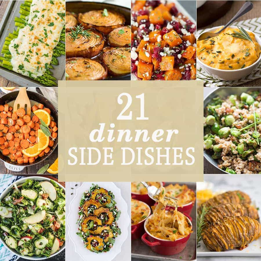 Christmas Dinner Side Dishes  21 Dinner Side Dishes The Cookie Rookie