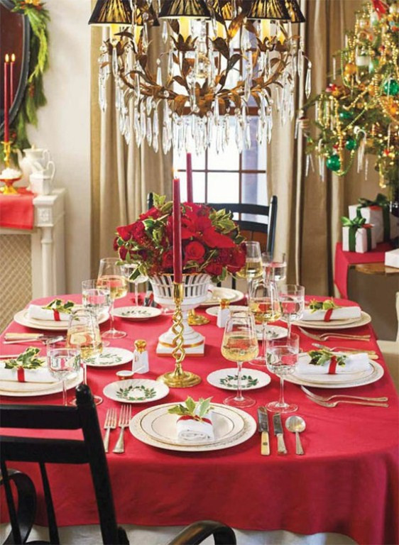 Christmas Dinner Table Decorations  45 Amazing Christmas Table Decorations