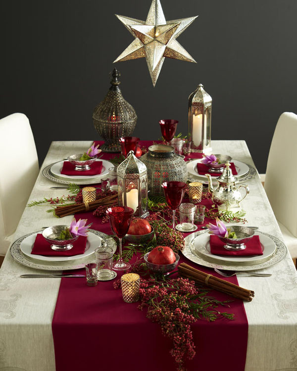 Christmas Dinner Table Decorations  Ideas to decorate your Christmas dinner table