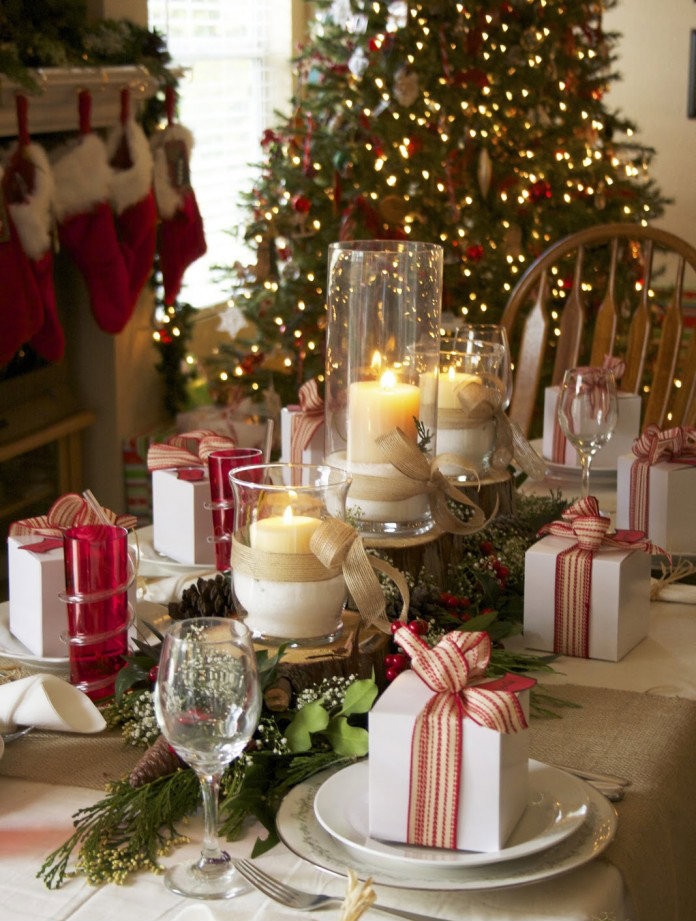 Christmas Dinner Table Decorations  Decorating ideas for your Christmas table Love Happens Blog
