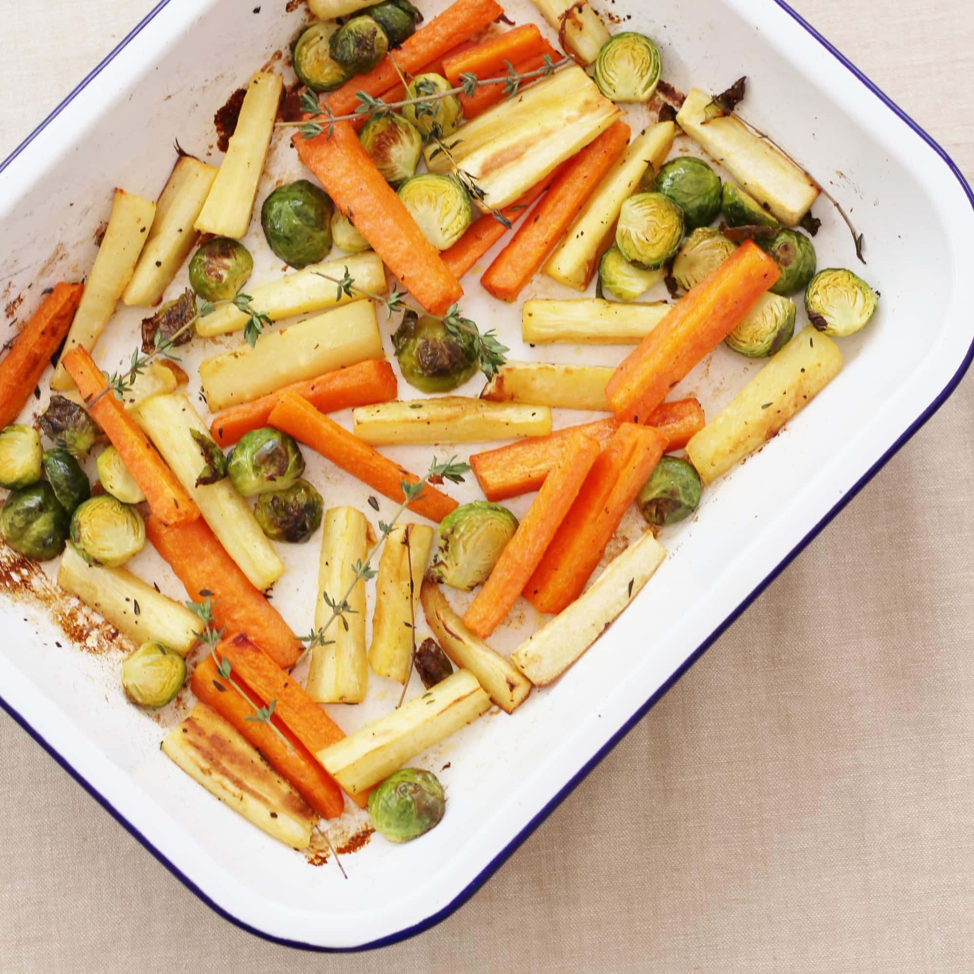 Christmas Dinner Vegetables  Easy Christmas Ve able Traybake Easy Peasy Foo