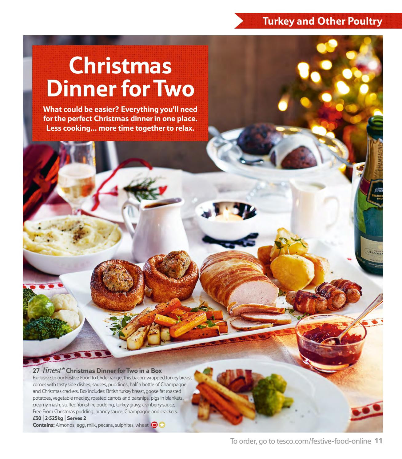 Christmas Dinners For 2  Tesco Festive Food to Order 2016 by Tesco magazine Issuu