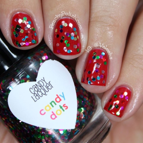 Christmas Dots Candy  Candy Lacquer Winter Holiday 2012 Peachy Polish