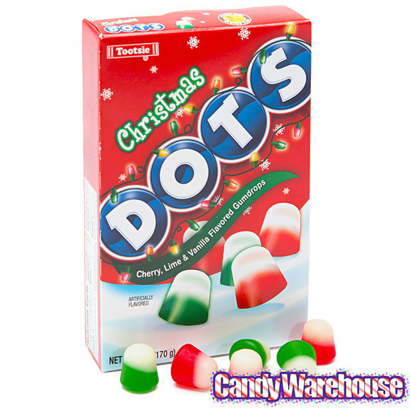 Christmas Dots Candy  Christmas Dots 6 Ounce Theater Packs 12 Piece Box