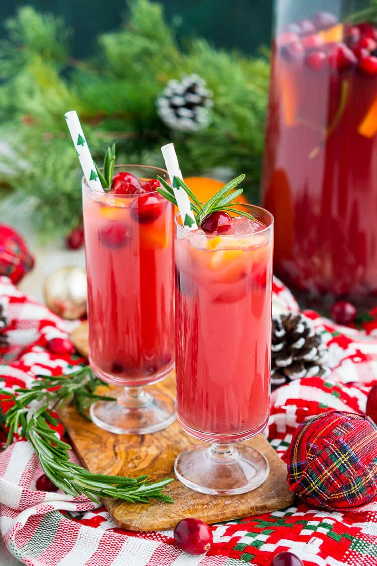 Christmas Drinks With Vodka  Christmas Punch Boozy or Not Recipe Sugar & Soul