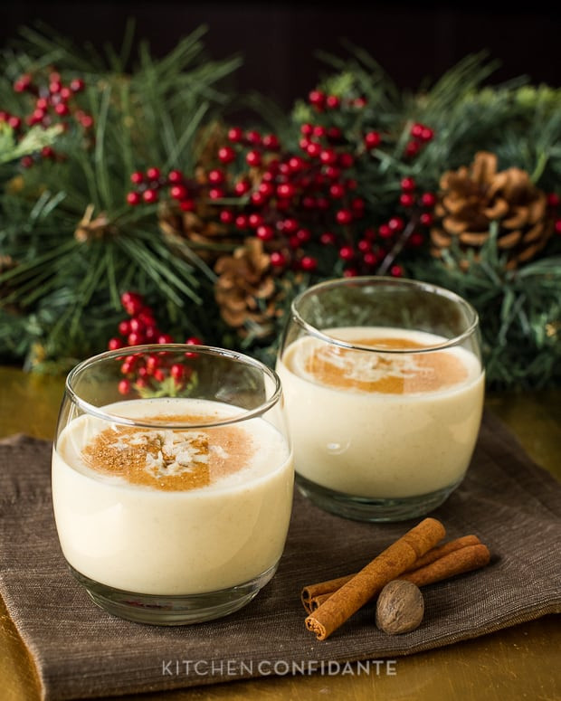 Christmas Eggnog Recipe  Simple Sundays Coconut Hazelnut Eggnog