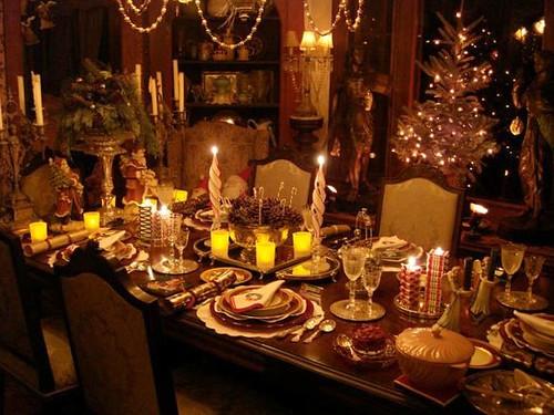 Christmas Eve Dinner  Christmas Eve Dinner Table Decorations