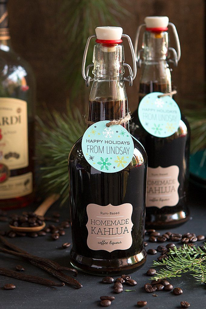 Christmas Food Gifts 2019  Saturday Sips Homemade Kahlua Holiday Gifts in 2019