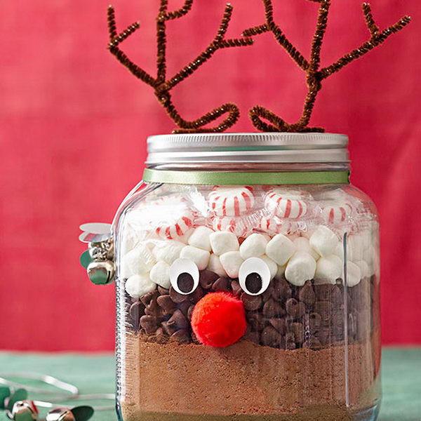 Christmas Food Gifts  50 Cute Mason Jar Craft Ideas Hative