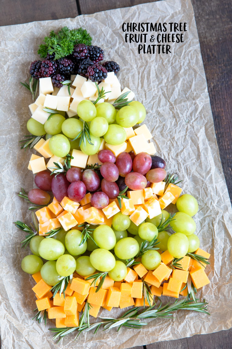 Christmas Fruit Appetizers  Christmas Tree Fruit & Cheese Tray