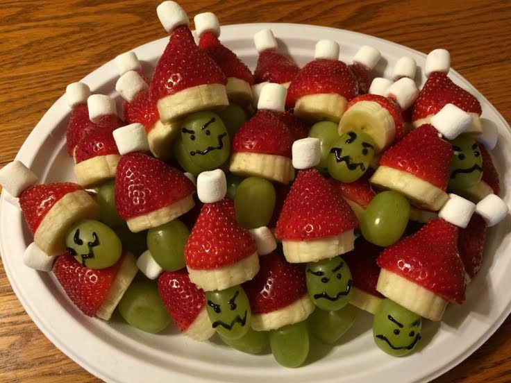 Christmas Fruit Appetizers  Best 25 Grinch kabobs ideas on Pinterest
