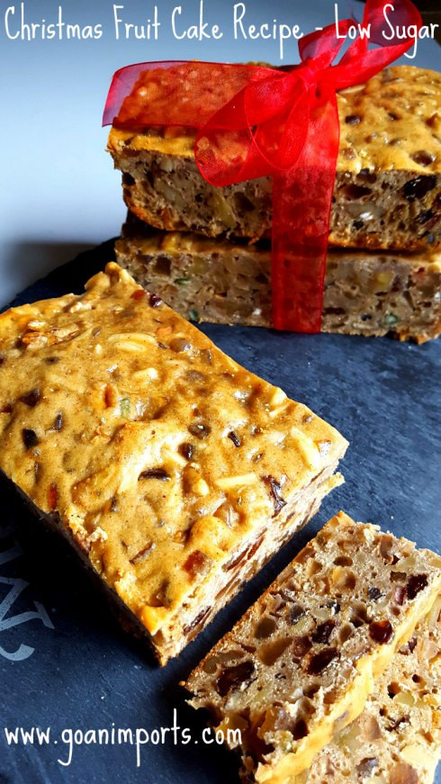 Christmas Fruit Cake Recipe With Rum  Fruit Cake with Brandy Soaked Can d Dry Fruits