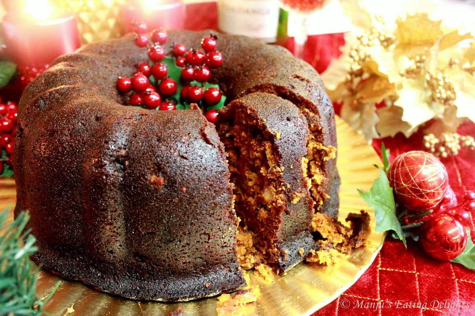 Christmas Fruit Cake Recipe With Rum  Manju s Eating Delights Traditional Christmas Fruit Cake