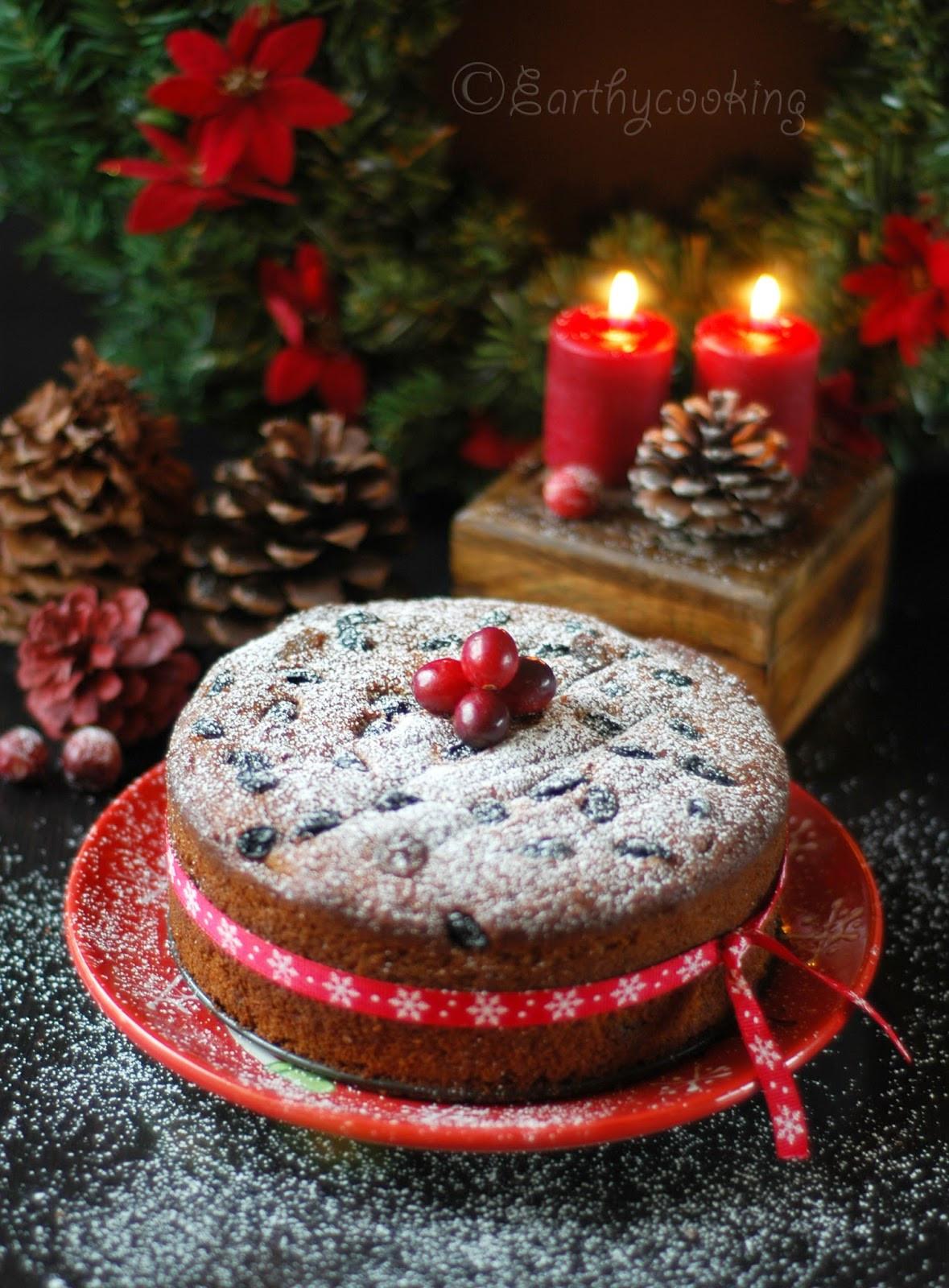 Christmas Fruit Cake Recipe With Rum  Earthycooking Rum Soaked Christmas Fruit Cake
