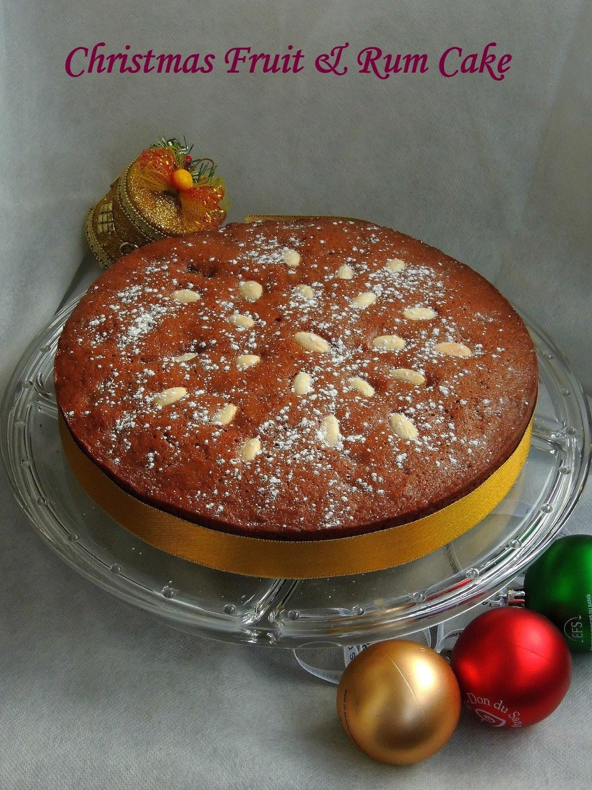 Christmas Fruit Cake Recipe With Rum  Priya s Versatile Recipes Christmas Fruit & Rum Cake