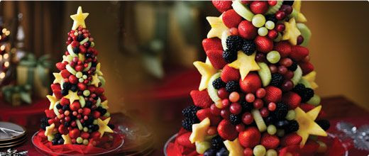 Christmas Fruit Desserts  Christmas fruit tree Food Pinterest